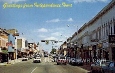 Greetings from Independence - Iowa IA Postcard