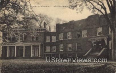 People's Hospital - Independence, Iowa IA Postcard