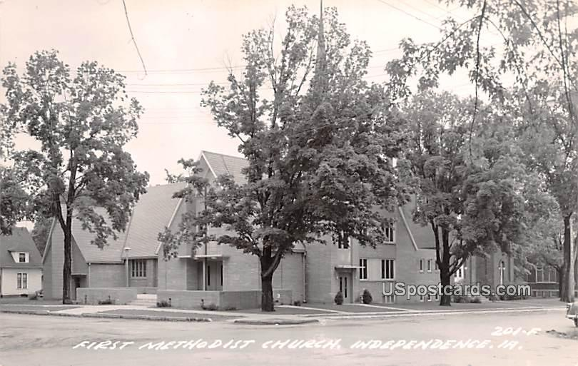 First Methodist Church - Independence, Iowa IA Postcard