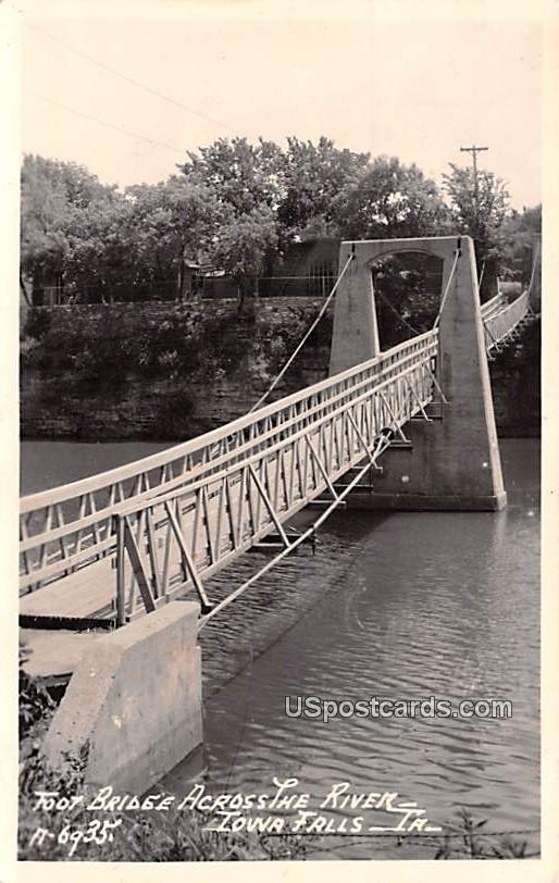 Foot Bridge - Iowa Falls Postcards, Iowa IA Postcard