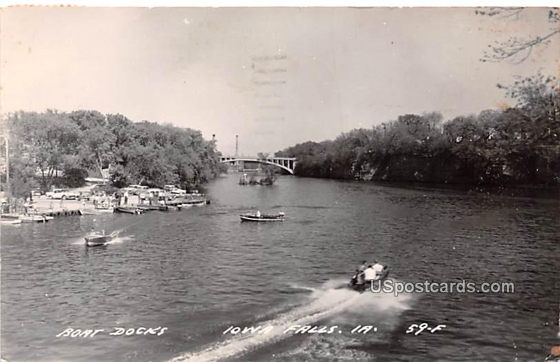 Boat Docks - Iowa Falls Postcards, Iowa IA Postcard