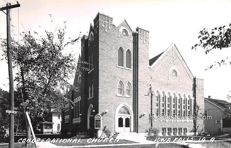 Congregational Church - Iowa Falls Postcards, Iowa IA Postcard