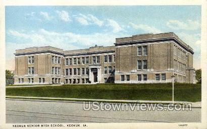 Keokuk Senior High School - Iowa IA Postcard