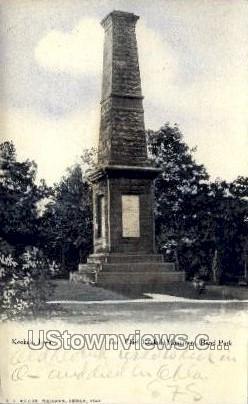 Chief Keokuk Monument, Rand Park - Iowa IA Postcard