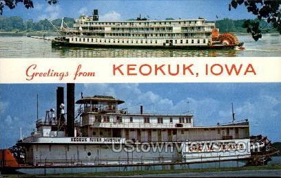 Greetings from Keokuk - Iowa IA Postcard