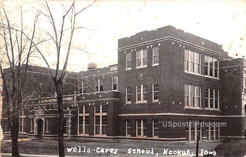 Wells Carey School - Keokuk, Iowa IA Postcard