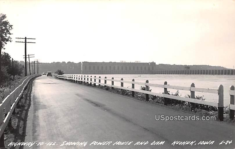 Highway 10 - Keokuk, Iowa IA Postcard