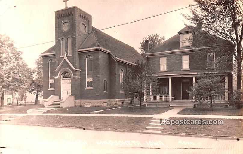 Catholic Church - Maquoketa, Iowa IA Postcard