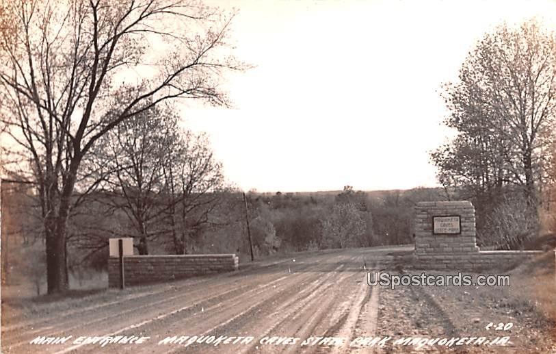 Main Entrance - Maquoketa, Iowa IA Postcard