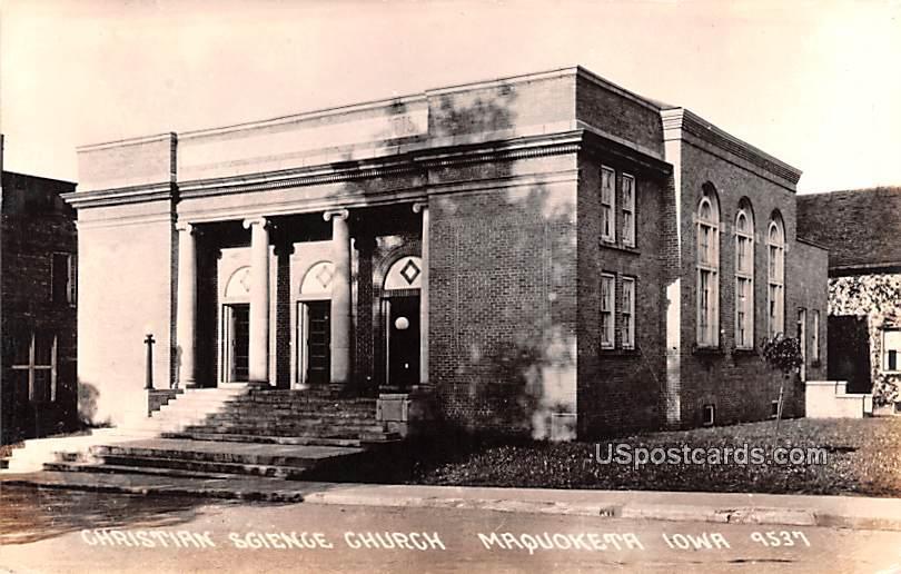 Christian Science Church - Maquoketa, Iowa IA Postcard