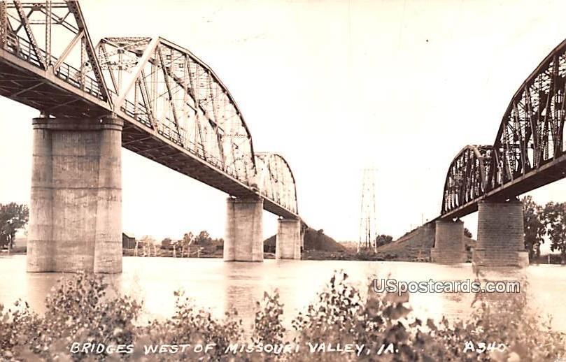 Bridges West - Missouri Valley, Iowa IA Postcard
