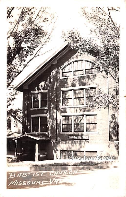 Baptist Church - Missouri Valley, Iowa IA Postcard