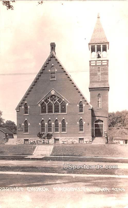 Baptist Church - Maquoketa, Iowa IA Postcard
