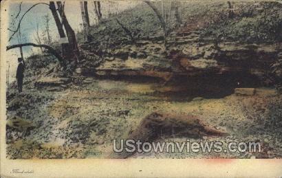 Blackhawk Spring, Crapo Park - Misc, Iowa IA Postcard