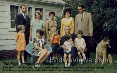 The Paul Franzenburg Family - Misc, Iowa IA Postcard