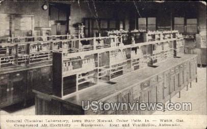 General Chemical Laboratory - Cedar Falls, Iowa IA Postcard