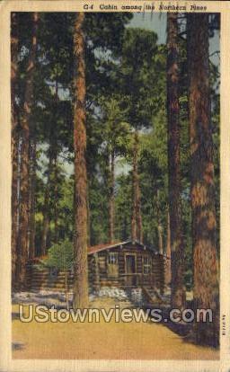 Cabin Among the Northern Pines - Misc, Iowa IA Postcard