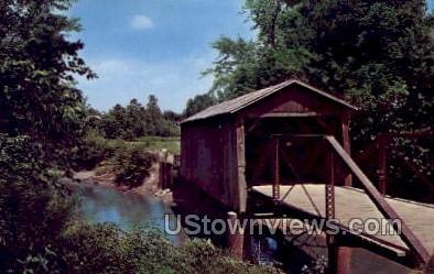 Covered Bridge - Misc, Iowa IA Postcard