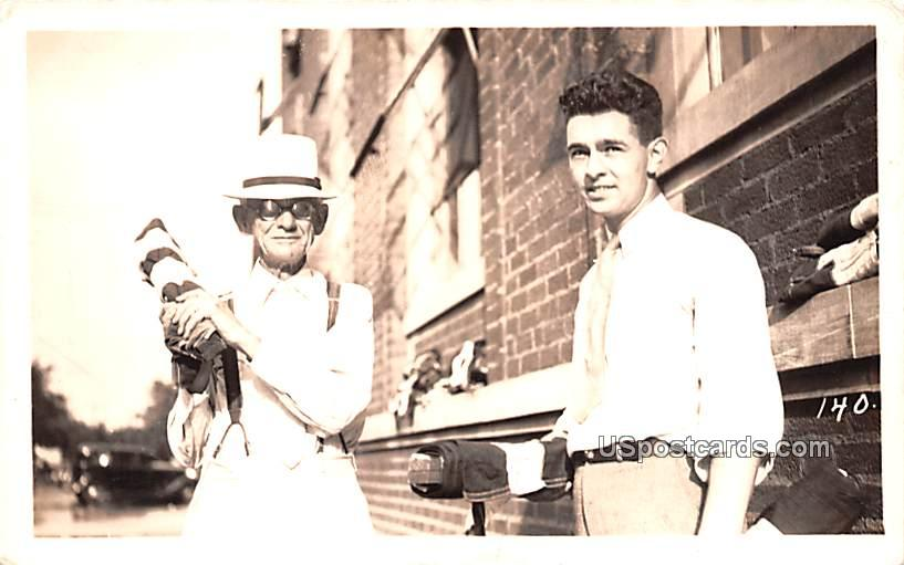 Two Men - Misc, Iowa IA Postcard