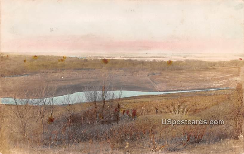 Birds Eye View - Misc, Iowa IA Postcard