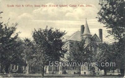 South Hall Office - Cedar Falls, Iowa IA Postcard