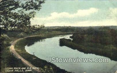 Cedar River - Cedar Falls, Iowa IA Postcard