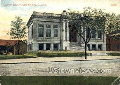 Dayton Library - Cedar Falls, Iowa IA Postcard