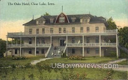 The Oaks Hotel - Clear Lake, Iowa IA Postcard