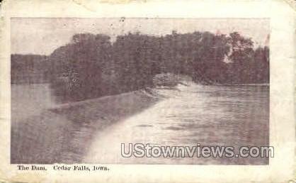 The Dam - Cedar Falls, Iowa IA Postcard