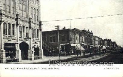Main Street  - Cedar Falls, Iowa IA Postcard