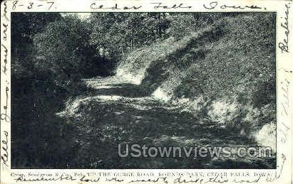 Up The Gorge Road - Cedar Falls, Iowa IA Postcard