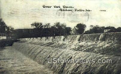 Over the Dam - Cedar Falls, Iowa IA Postcard