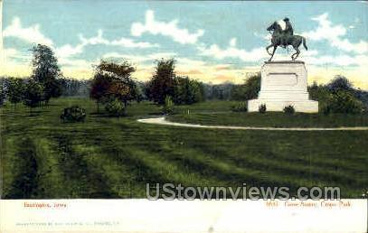 Corse Statue - Burlington, Iowa IA Postcard