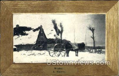 Winter, A Mauve - Misc, Iowa IA Postcard