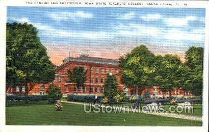 The Cannon and Auditorium - Cedar Falls, Iowa IA Postcard