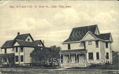 1117 and 1123-West 22nd Street - Cedar Falls, Iowa IA Postcard