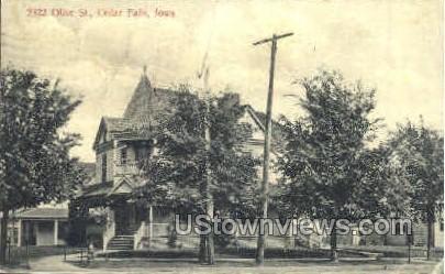 2322 Olive Street - Cedar Falls, Iowa IA Postcard
