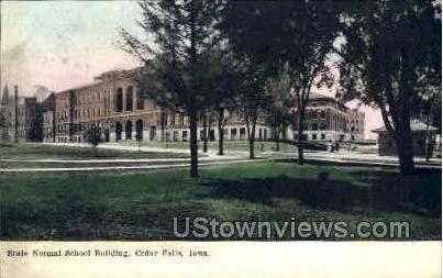 Normal School Building - Cedar Falls, Iowa IA Postcard