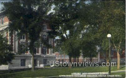 Library and Training School - Cedar Falls, Iowa IA Postcard