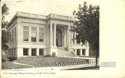 Carnegie Library - Cedar Falls, Iowa IA Postcard