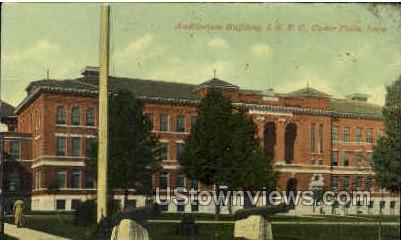Auditorium Building - Cedar Falls, Iowa IA Postcard