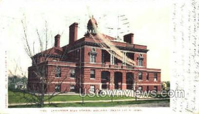 Laylander High School Building  - Cedar Falls, Iowa IA Postcard
