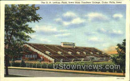 The O.R. Latham Field - Cedar Falls, Iowa IA Postcard