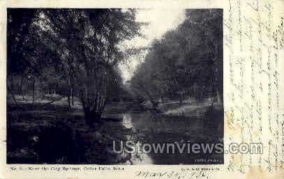 Near the City Springs - Cedar Falls, Iowa IA Postcard