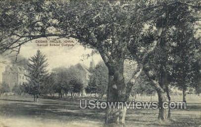 Normal School Campus - Cedar Falls, Iowa IA Postcard