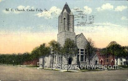 M.E. Church - Cedar Falls, Iowa IA Postcard