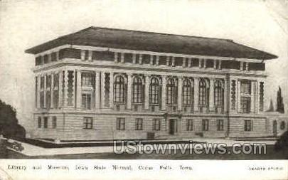 Library and Museum - Cedar Falls, Iowa IA Postcard
