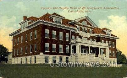 Western Old Peoples Home - Cedar Falls, Iowa IA Postcard