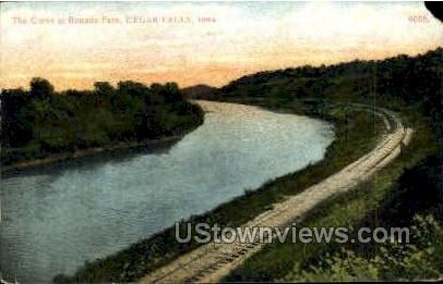 The Curve at Rounds Park - Cedar Falls, Iowa IA Postcard
