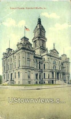 Courthouse - Council Bluffs, Iowa IA Postcard